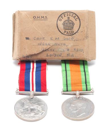Capt. Ellis Michael Ginn - his two World War II medals,