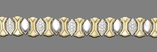 A diamond-set bracelet