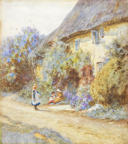 Helen Allingham, RWS (British, 1848-1926) A good story