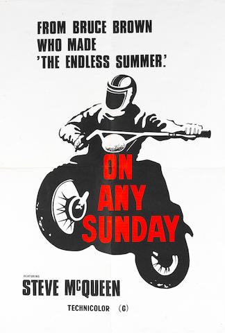 An 'On Any Sunday' film poster,