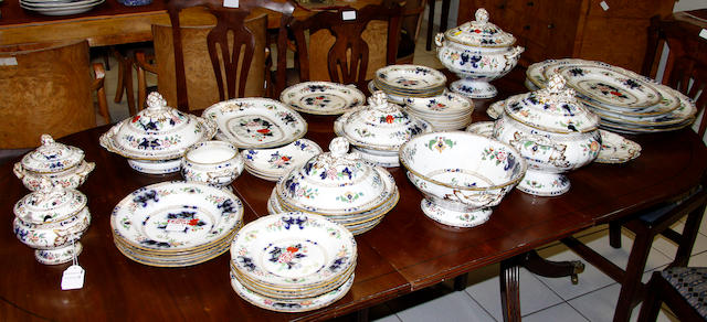 A Minton New Stone part dinner service, mid 19th century