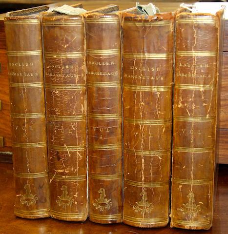 Books: English & Baronetage, 5 vols,