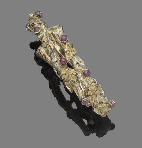 A ruby-set bangle, by Buccellati