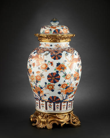 Ormulu mounted Chinese vase