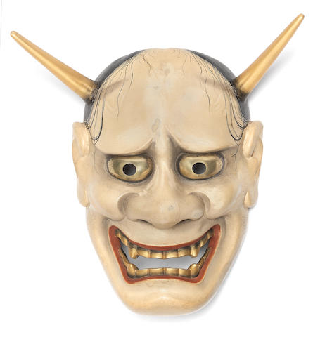 A wood Noh mask of Hannya Attributed to Muko Seiun I (1867-1944), 20th century