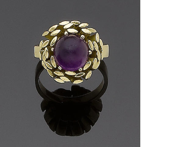 An amethyst dress ring, by John Donald,