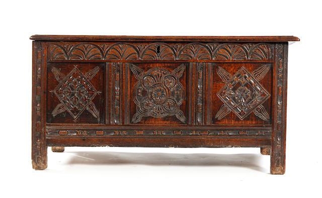 A Charles I oak coffer Circa 1630