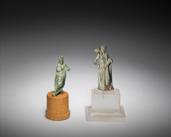 Two Roman bronze figures of goddesses 2