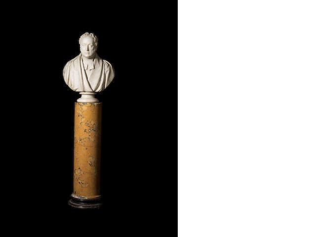 A marble portrait bust b E. H. Baily