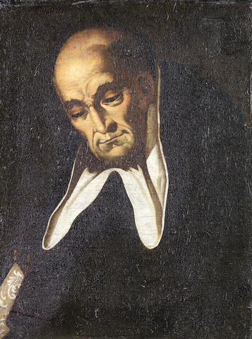 Spanish School, 18th Century Portrait of a Dominican Monk unframed