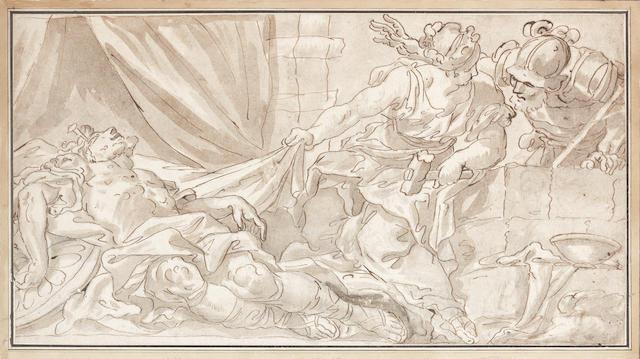 Circle of Ubaldo Gandolfi (San Matteo della Decima 1728-1781 Ravenna) Jael and Sisera