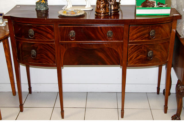 A George III style mahogany D-shaped sideboard, Early 20th Century