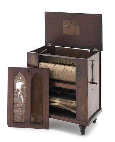 A small barrel organ/serinette, circa 1830,