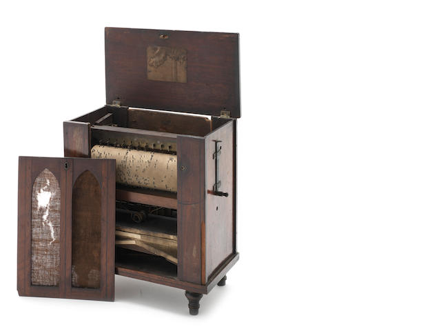 A small barrel organ/serinette, circa 1830,