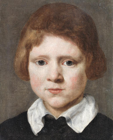 Dutch School, 17th Century Portrait of a boy, bust-length, in a black coat  unframed