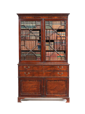 A George III mahogany secretaire bookcaseattributed to Gillows