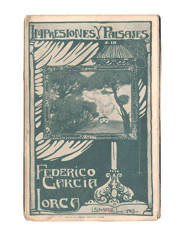 LORCA (FEDERICO GARCÍA) Impresiones y paisajes, FIRST EDITION OF THE AUTHOR'S FIRST BOOK, UNTRIMMED AND UNOPENED, [1918]