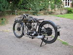 1924 Sunbeam 493cc Model 9  Frame no. OP244 Engine no. 229/244