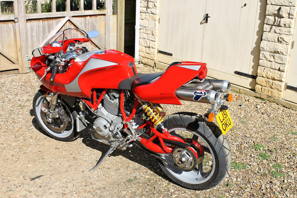 One owner, 1,419 miles from new,2001 Ducati MH900e  Frame no. ZDMV300AA1B001657 Engine no. ZDM904A2K013335