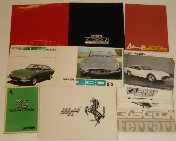 Assorted Ferrari sales literature,