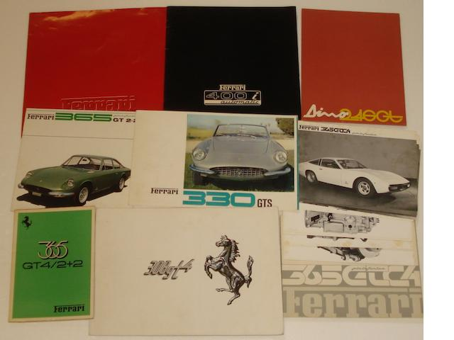 Assorted Ferrari sales literature,