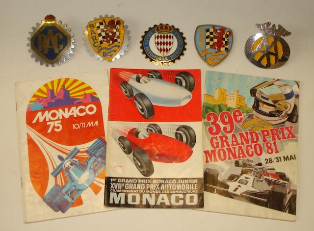 Three Monaco Grand Prix race programmes,