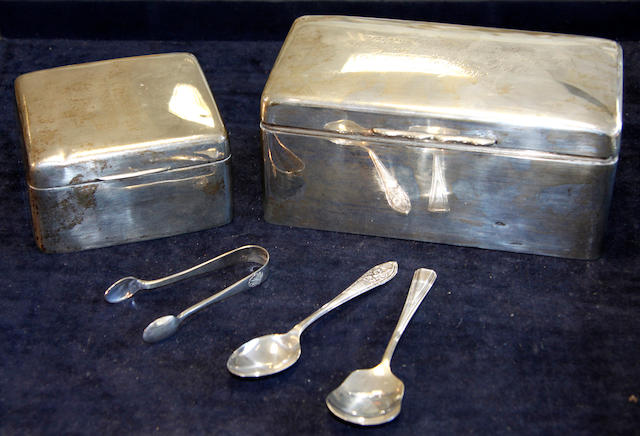 A quantity of silver and plated ware A quantity of silver and plated ware Various dates and makers