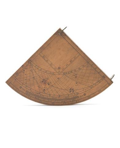 A boxwood Gunter quadrant,  English,  early 18th century,