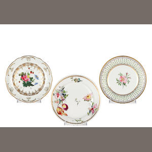 Two Swansea plates, circa 1813-20
