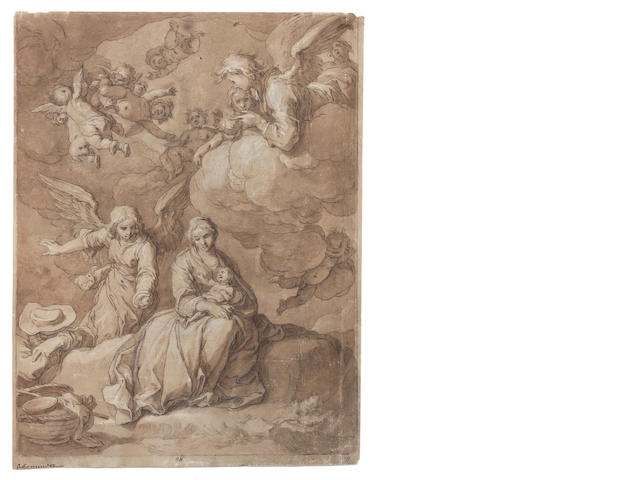 Abraham Bloemaert (Dordrecht circa 1564-1651 Utrecht) The Rest on the Flight into Egypt