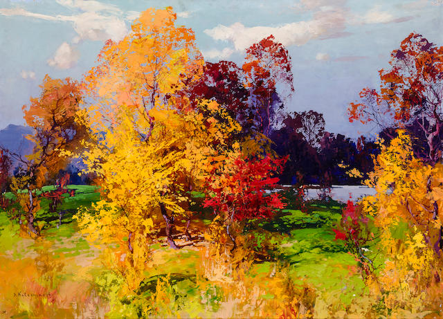 Stepan kolesnilov, Fall Landscape (abresions, area of small lasser in lower right, and left quadrons