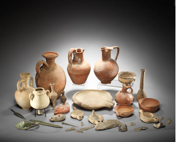 A large group of miscellaneous antiquities a lot