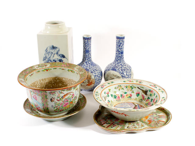 A group of ceramics