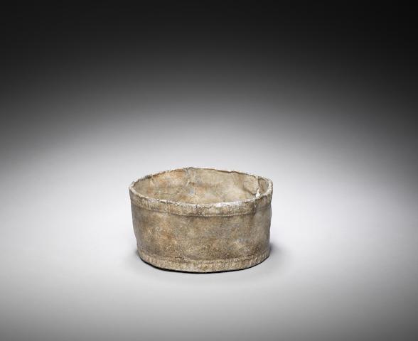 A Roman lead bowl