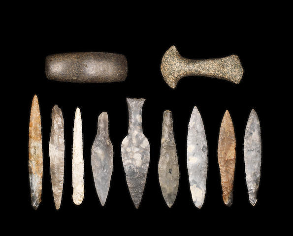 Eleven Danish stone implements 11