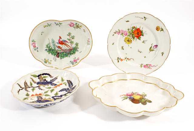 Four Derby dessert dishes, late 18th-early 19th century
