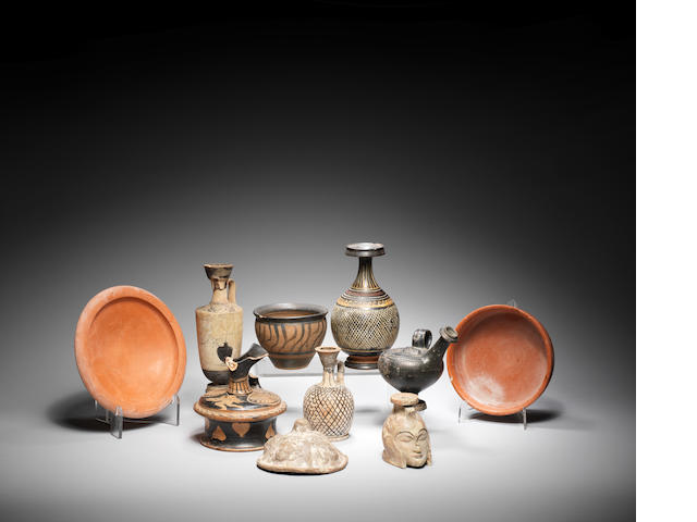 Ten Greek and Roman pottery vessels 10