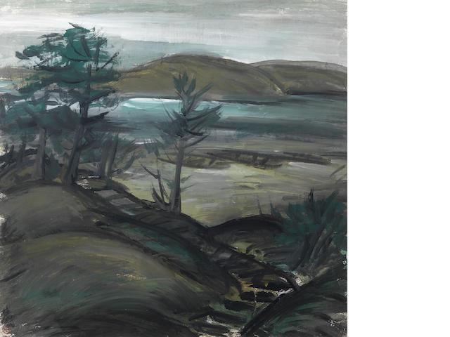 Lin Fengmian (1900-1991) Landscape scene