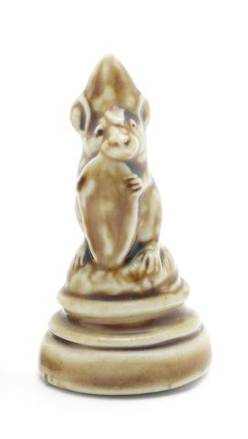 George Tinworth a Mouse Chess Piece Modelled as a Pawn, circa 1880