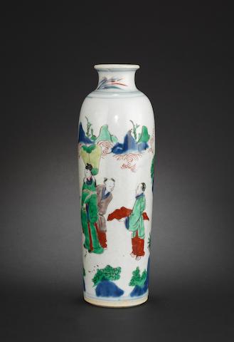 A wucai sleeve vase Chongzhen