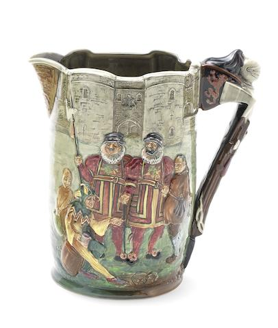 Doulton Burslem 'The Tower of London' a Commemorative Jug, 1933