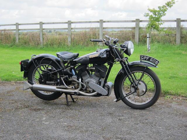 1938 Brough Superior 1,096cc 11-50hp Special Frame Frame no. 81974 Enginge no. LTZ/0 59926/S