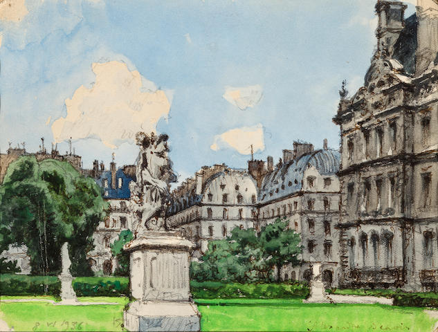 Alexander Benois, Chateny, Paris 1936