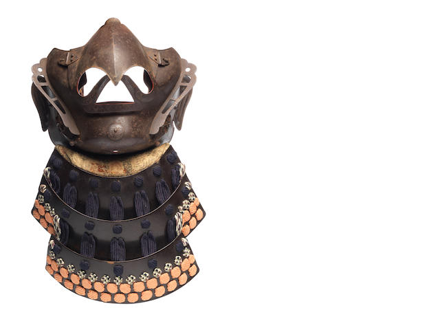 A karura menpo (mask) By Myochin Munetomo, mid Edo Period, 18th century
