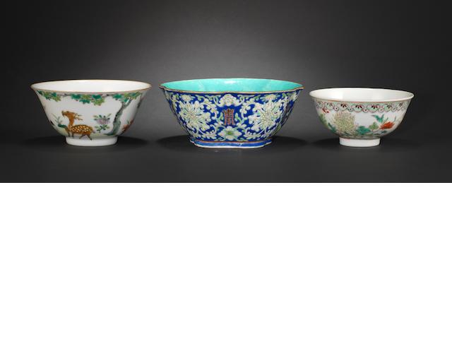 Three various bowls