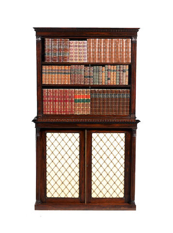 A William IV rosewood bookcase