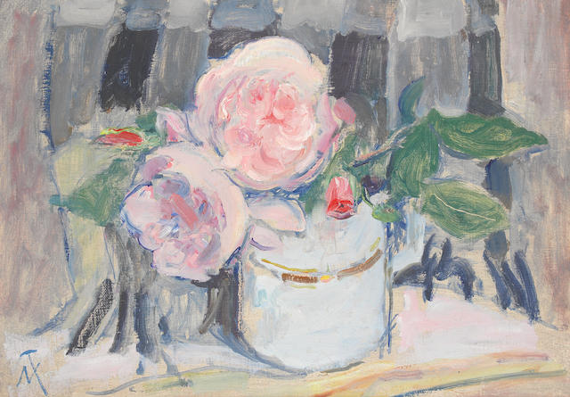 M. Thomas painting - Still life flowers