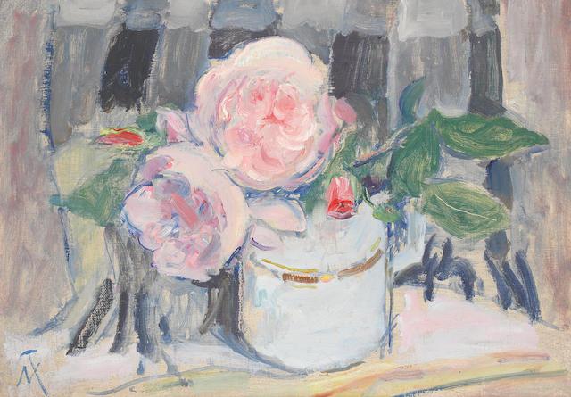 M. Thomas painting - Still life flowers