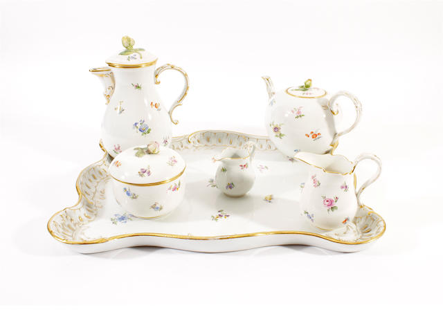 A Meissen cabaret set, 20th century