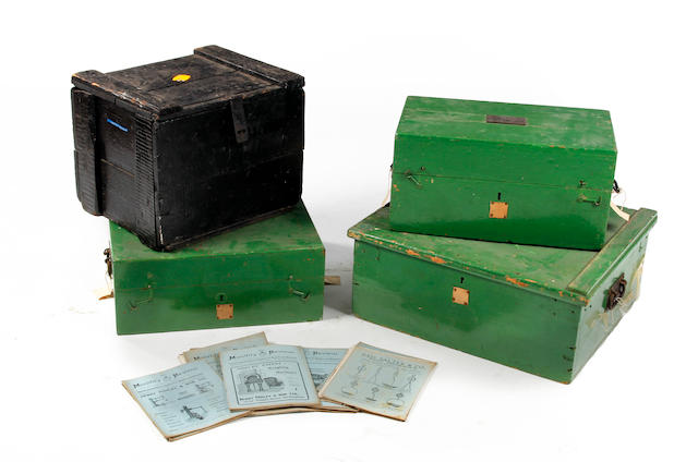 Three weights and measures boxes
